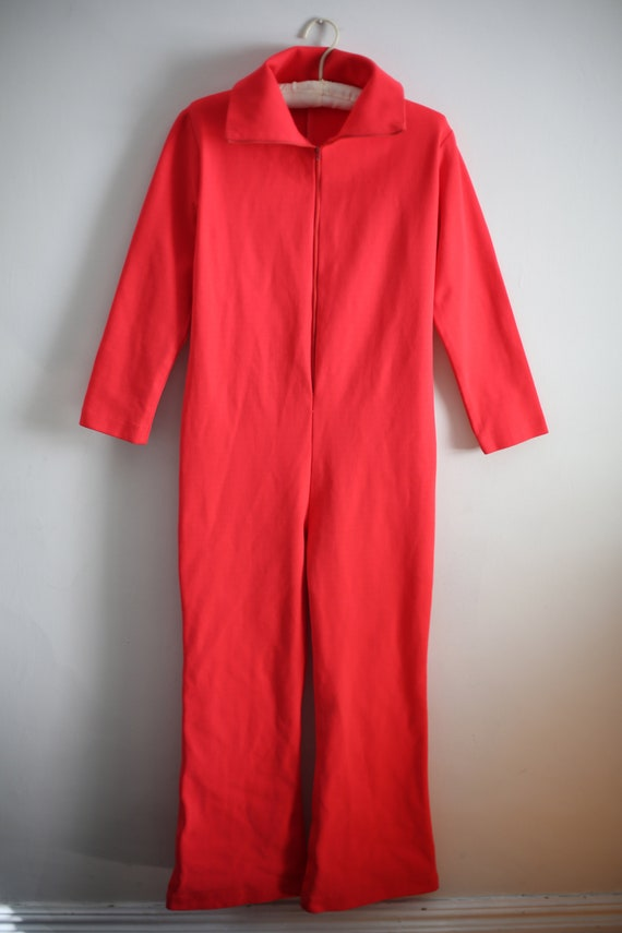 Hot Pink 70s stretchy Jumpsuit