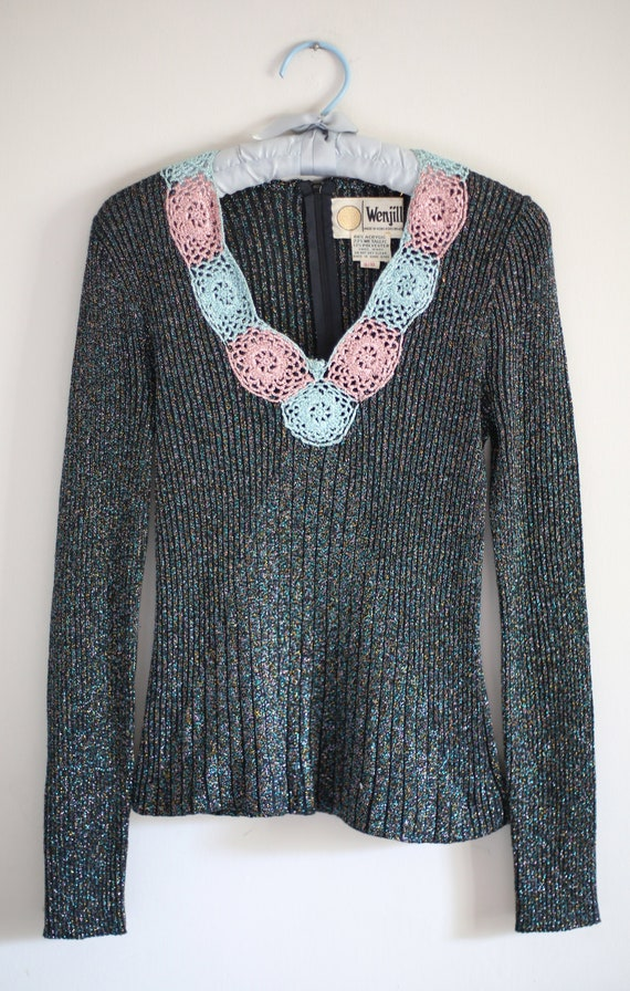 1970s Wenjilli Sparkling Sweater in size 10/10