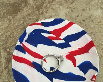 Red, White and Blue Ring Dish
