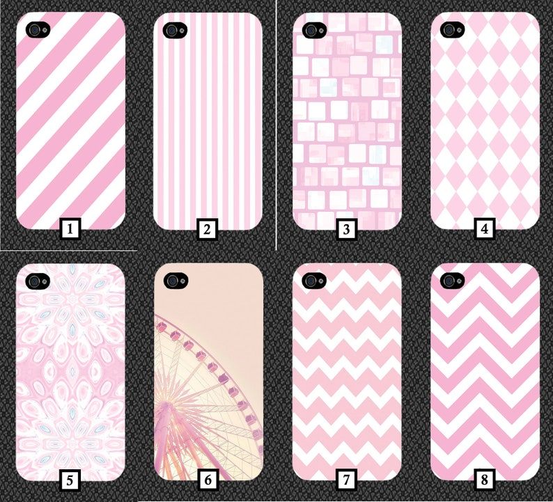 size 40 3aea0 9e6af Baby Pink Patterned Phone Case Cover Pattern Design Style Striped Stripes  and White Design Bricks Girly Gift Present Chequered Diamond 10