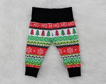 608bc8d84af09a HO HO HO Christmas Baby Pants, Baby Toddler Holiday Joggers, Christmas  Coming Home Outfit, Newborn Photo Prop, Gender Neutral Baby Pants