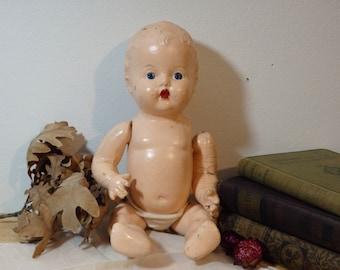 Puppen Spielzeug art doll ooak creepy cute baby antique porcelain cup sitter Puppen & Zubehör