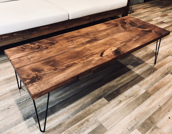 Rustic Coffee Table Coffee Tables Farmhouse Coffee Table Wood Table Wooden Coffee Tables With Hairpin Legs