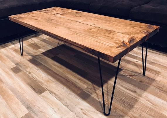 Magnificent Rustic Coffee Table Coffee Tables Farmhouse Coffee Table Wood Table Wooden Coffee Tables With Hairpin Legs Cjindustries Chair Design For Home Cjindustriesco