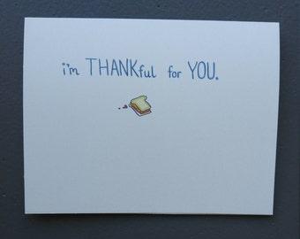 Thank You Card - PB&J