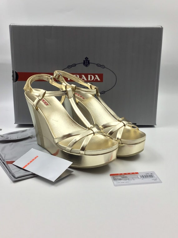 Vintage 1990s Prada Wedge Shoes Never used