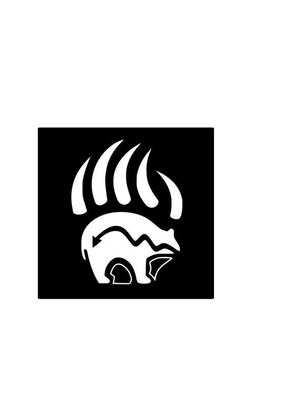 Zuni Bear Claw Vinyl Decal Car Laptop Sticker Native Etsy