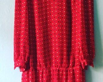 80's Drop Waist Dress
