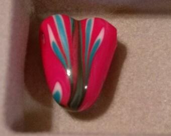 Heart shaped Glass Bead