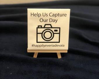 Wedding Hashtag Sign Mini