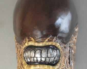 Alien Creature plaster sculpture figurine Head dog Alien 3