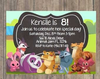 Animal Jam Customized Digital Invite