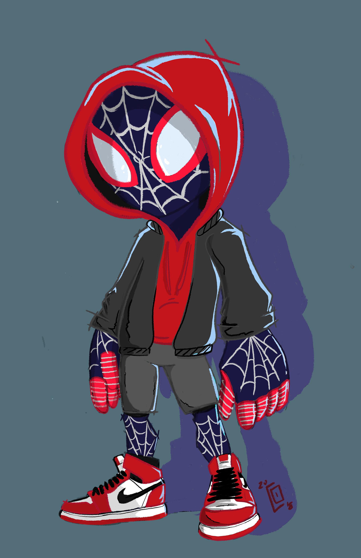 Ultimate Spiderman Miles Morales | Etsy