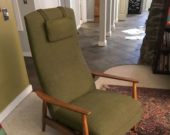 Early Milo Baughman Recliner Mid Century Modern Chair