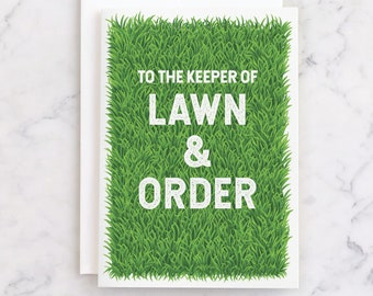 PRINTABLE Funny Fathers Day Card for Dad INSTANT DOWNLOAD | Lawn and Order