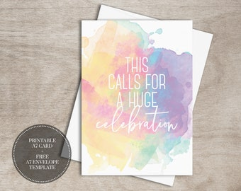 New home card printable calligraphy housewarming card new etsy printable baby shower cards digital download watercolor rainbow gender reveal pregnancy greeting card instant download m4hsunfo