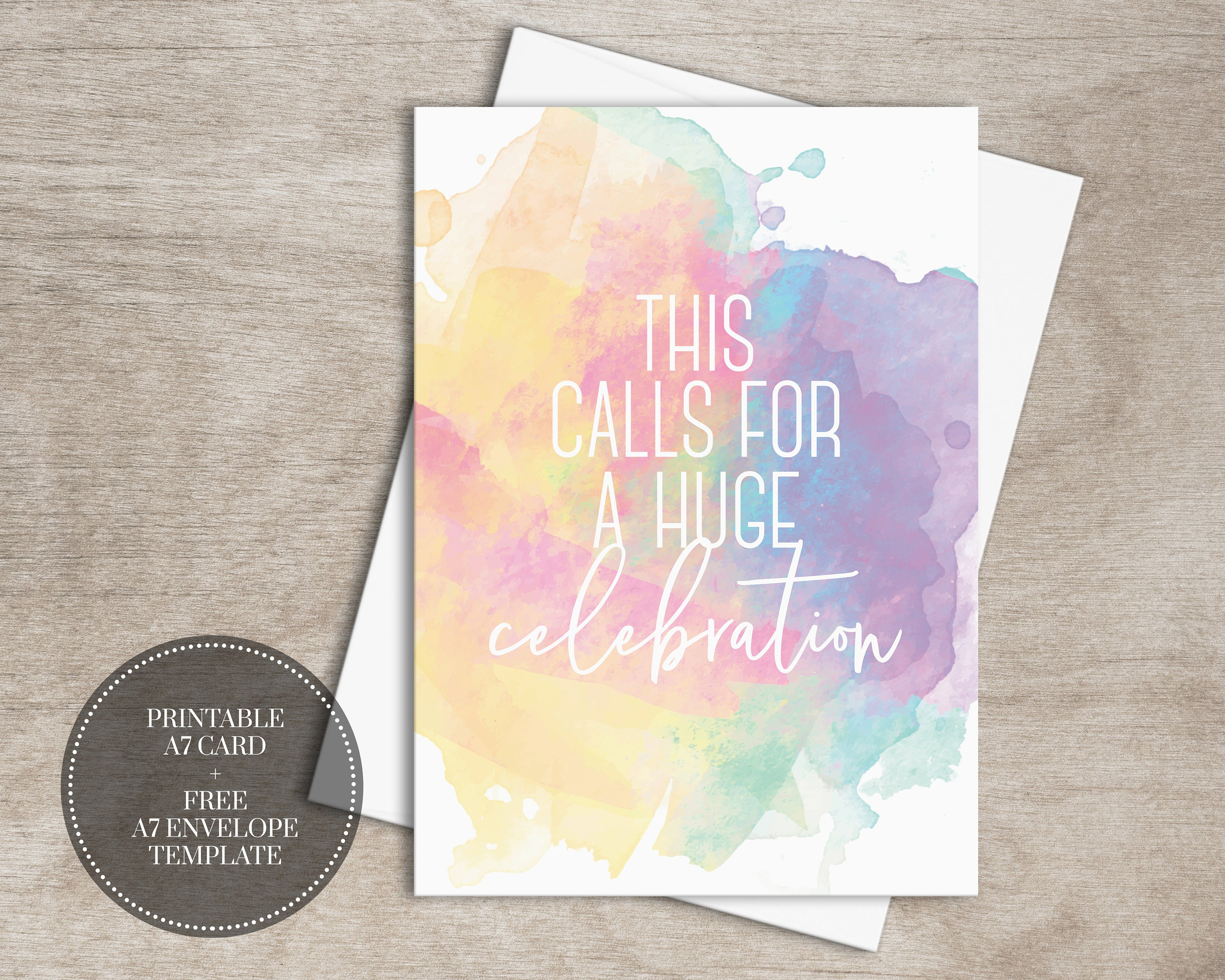 Printable Baby Shower Cards Digital Download Watercolor Etsy