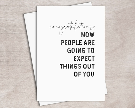 image about Free Printable Funny Graduation Cards known as PRINTABLE Humorous Commencement Card Immediate Down load // Be expecting Factors