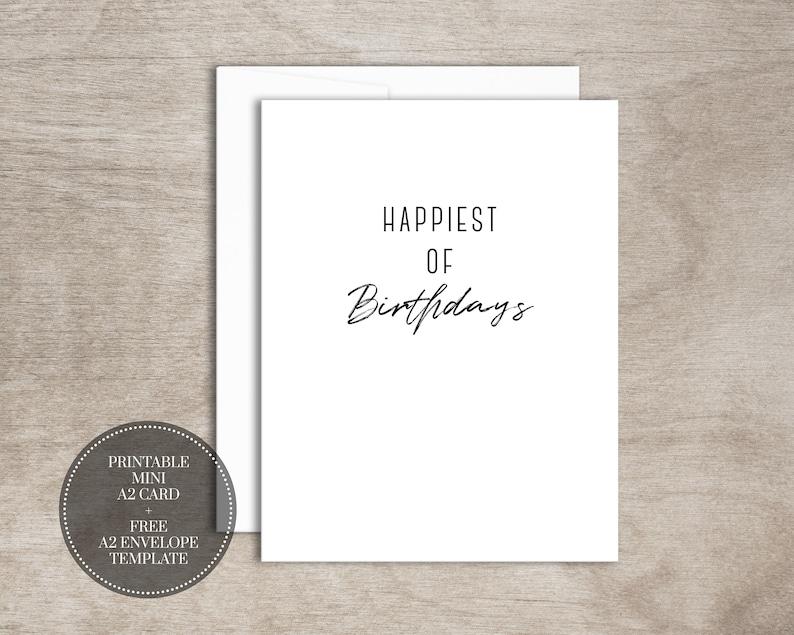 PRINTABLE Birthday Card INSTANT DOWNLOAD Digital Mini Greeting