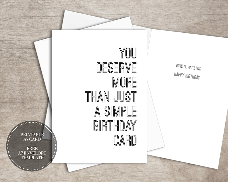 image relating to Free Printable Funny Birthday Cards for Him named PRINTABLE Humorous Birthday Card for Him Fast Obtain // Easy