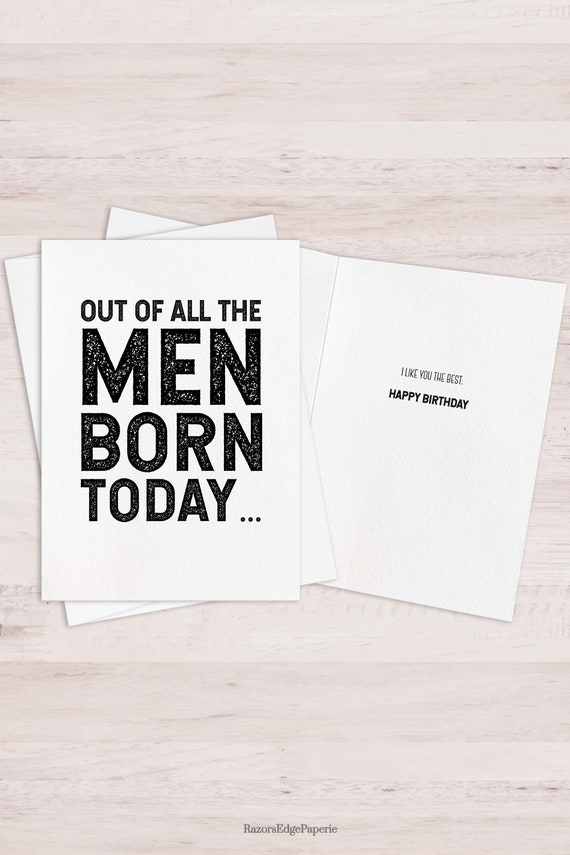 Printable Funny Birthday Card For Him Best Friend Gift For Men Etsy
