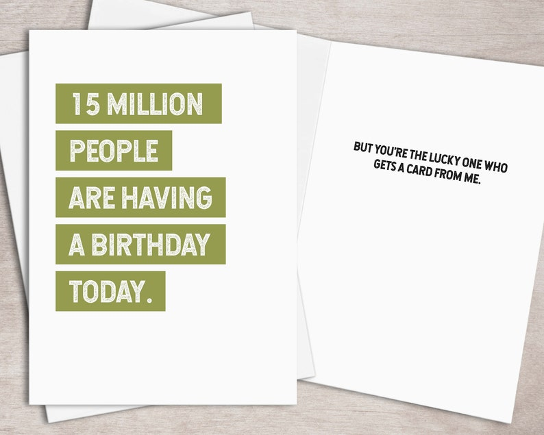 image regarding Free Printable Funny Birthday Cards for Him identified as PRINTABLE Humorous Birthday Card for Him Fast Down load // Just one inside a Million