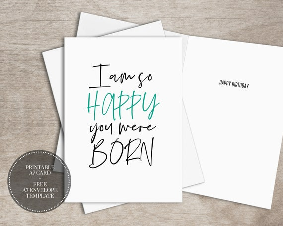 PRINTABLE Funny Birthday Card INSTANT DOWNLOAD Digital