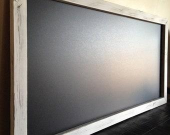 Genial Magnetic Chalkboard, Magnet Board, Magnetic Kitchen Chalkboard, Distressed  Framed Chalkboard, Framed Magnet Board, Large Menu Board