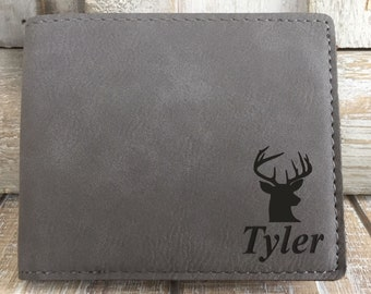 Hunting Gifts For Men Deer Hunter Boyfriend Birthday Gift Personalized Teenage Boy Wallets LEATHERETTE Wallet
