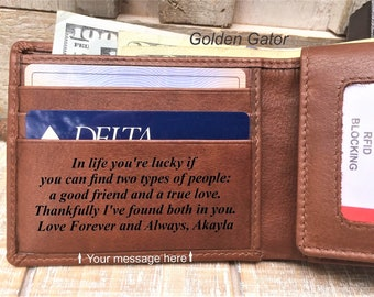 Mens Leather Wallet, Boyfriend Gift, Anniversary Gifts for Men, Gifts for Boyfriend, Gifts for Husband, Personalized Mens Wedding Gift