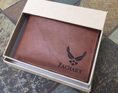 Air Force Gifts, Husband Gift, Boyfriend Gift, Slim Mens Wallet, Air Force Academy Graduation, Military Gifts Pilot Wings, Father 39 s Day Gift