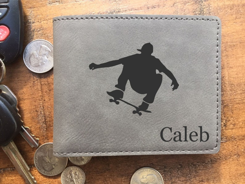 Son Wallet Boys Wallet Son Gift from Mom Personalized image 0