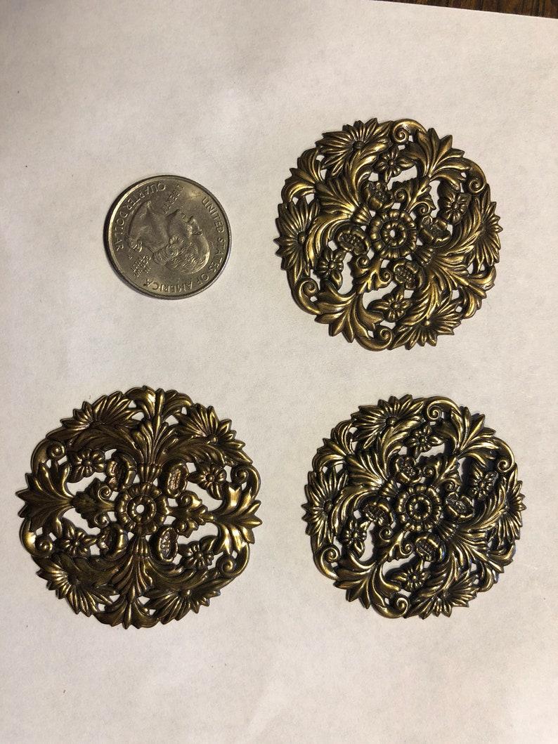 Brass stamped medallions