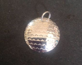 Sterling Silver 925 Domed Pendant