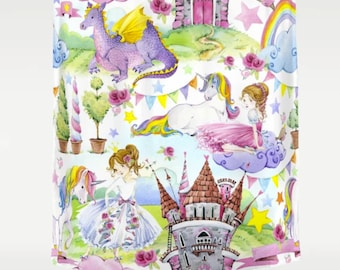 Princess Shower Curtain Girly Curtains Unicorn Girls Kids Decor