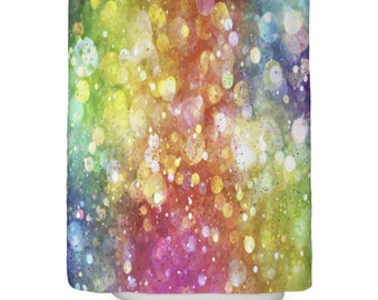 Rainbow Shower Curtain Girly Curtains Confetti Girls Kids Fairy Decor