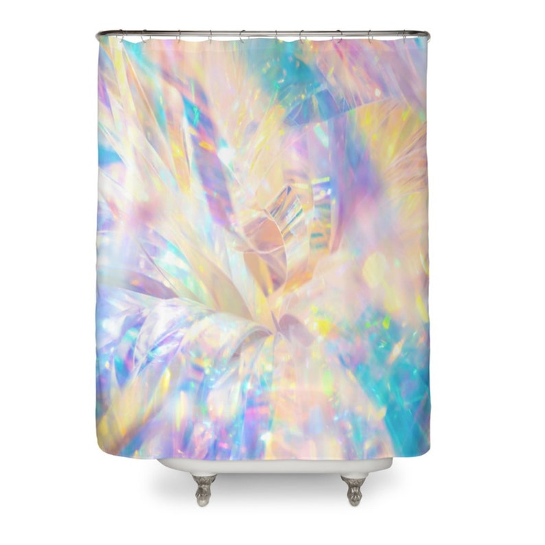 Fairy Shower Curtain Girly Curtains Glittery