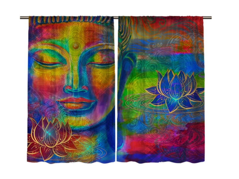 New Buddha Psychedelic Trippy Abstract  Custom Poster Print Art Decor T-623