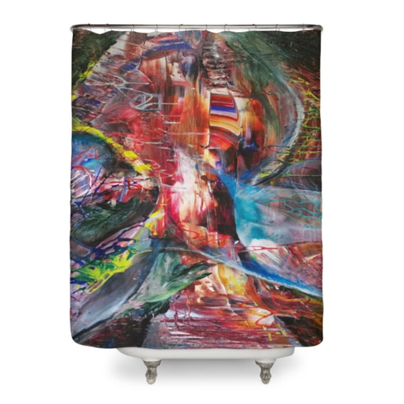 Abstract Art Shower Curtain Psychadelic