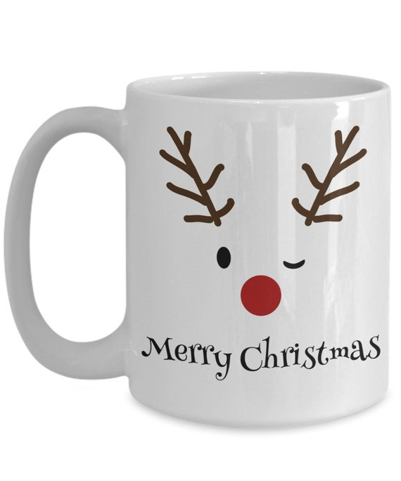 Christmas Mugs.Christmas Coffee Mug 11oz Or 15oz Cute Christmas Mugs Reindeer Mug Rudolph Mugs Christmas Decor Xmas Mug Xmas Mugs Xmas Gifts Reindeer Mug