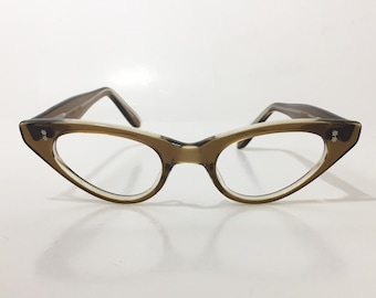 Vintage 60s Cat Eye Glasses Frames, NOS, Swank Frame France Translucent Maple Brown Eyeglasses, Mod Cateye Atomic Hipster Sunglass Frames