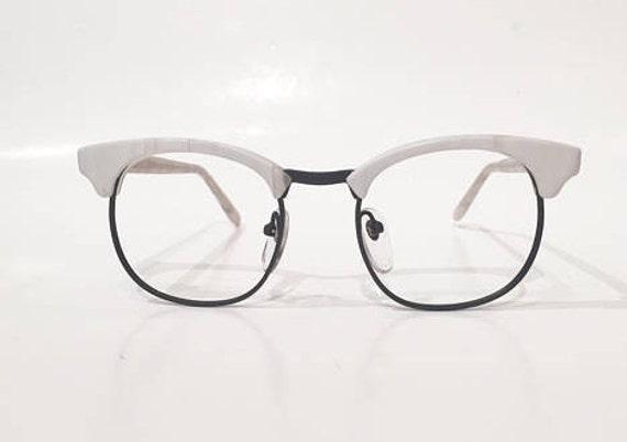 NOS Vintage 70s Women White & Black Eye-Q Eyeglasses 80s | Etsy