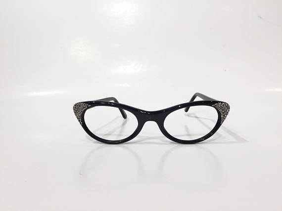 ec467767940 50s Dark Brown Cat Eye Glasses Frames Vintage Cateye