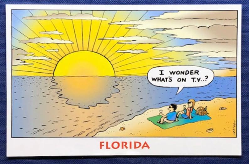 Sunset TV Postcard