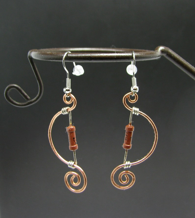 Awesome Electronic Parts Earrings Geek Wired Jewelry Vintage Ussr Etsy Wiring Cloud Hisonuggs Outletorg