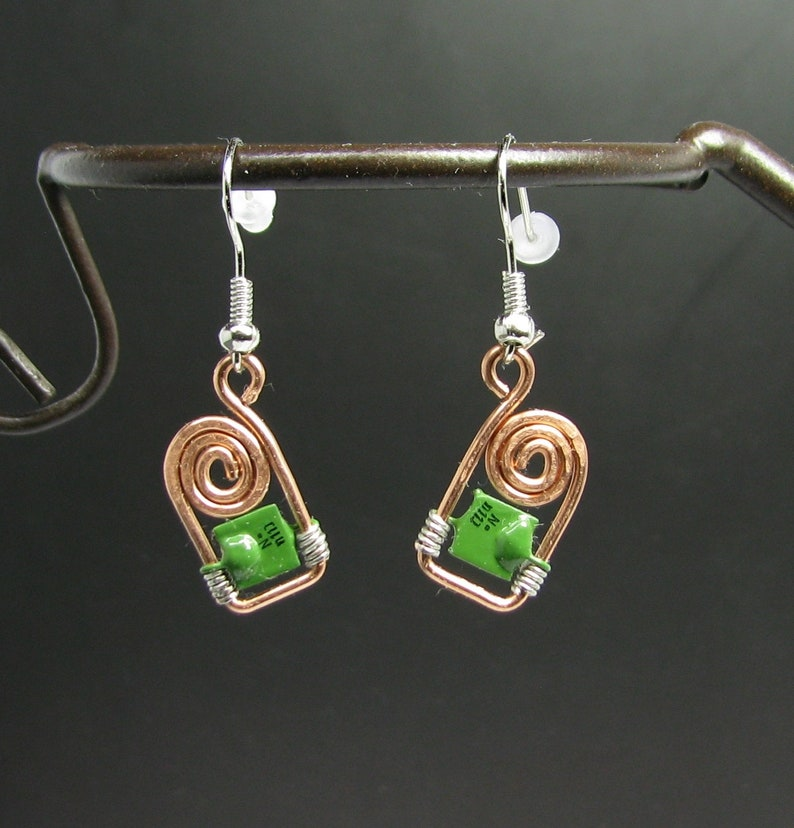 Superb Electronic Parts Earrings Geek Wired Jewelry Vintage Ussr Etsy Wiring Cloud Hisonuggs Outletorg