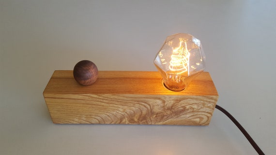 nightstand lamp with dimmer image wooden desk table nightstand lamp includes dimmer switch etsy