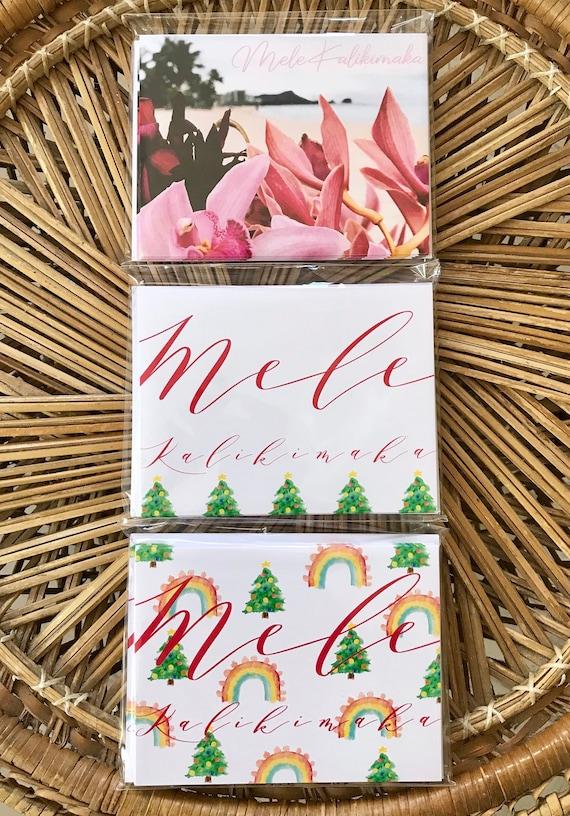 Mele Kalikimaka Christmas Cards.Mele Kalikimaka Card Hawaiian Christmas Greeting Cards Diamond Head Mele Kalikimaka Card Hawaii Christmas Art And Gifts Rainbows Xmas