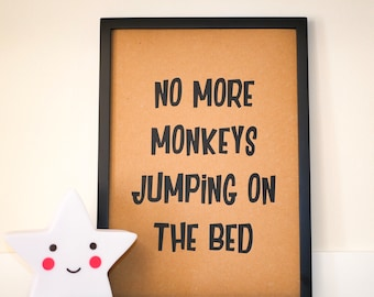 Quotes Aan Muur : Monkey quotes etsy