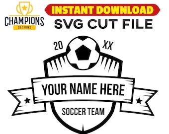 Soccer emblem svg soccer team svg cutting file soccer ball